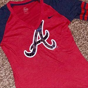   New W/ Tag   Ladies Nike ATL ⚾️ Braves T•Shirt  